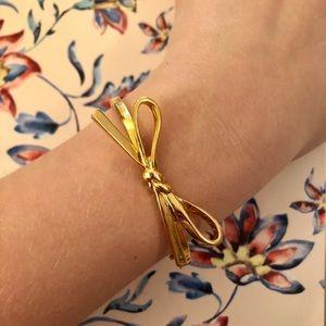 Kate Spade ♠️ Gold Skinny Bow Bangle Bracelet